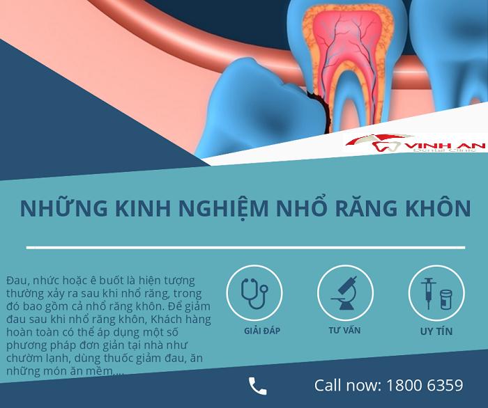 Sau khi nhổ răng khôn cần làm gì để nhanh lành vết thương?